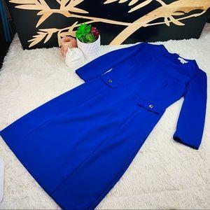 LIZ CLAIBORNE BLUE DRESS SIZE SMALL